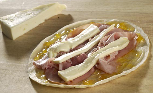 Ham and Brie Quesadillas
