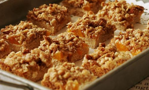 Peach Cobbler Bars