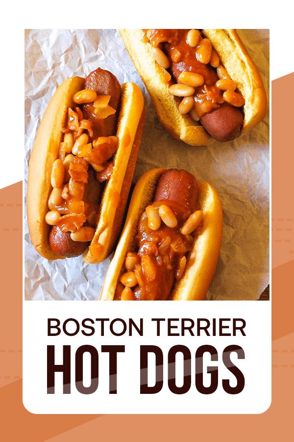 Boston Terrier Hot Dogs - Easy Culinary Concepts #hotdogs #hotdogrecipes